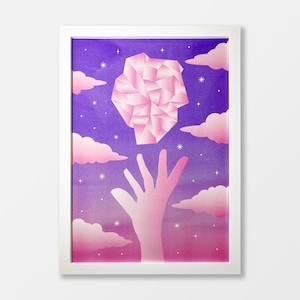 Want The Mineral A3 Risograph Print