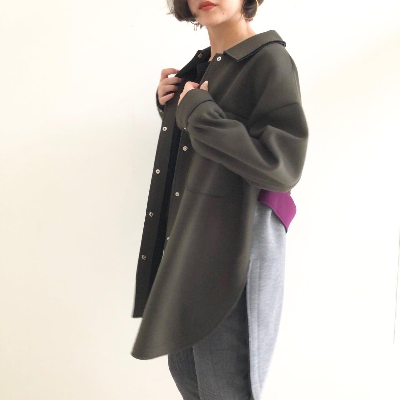 【 Eimee Law 】- 80444E - ボンディング配色シャツコート