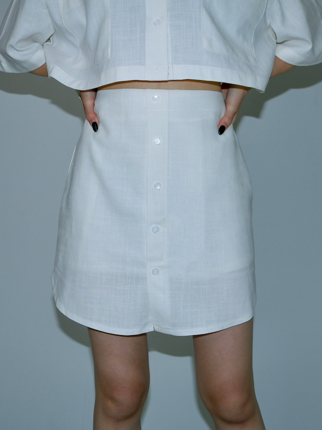 【WOMENS - 1 Size】LINEN SHIRT SKIRT / 2colors