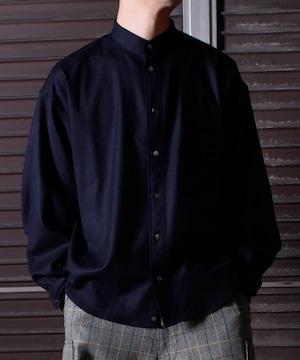 Military Sleeve Band Collar Shirt -navy <LSD-BJ3S1>