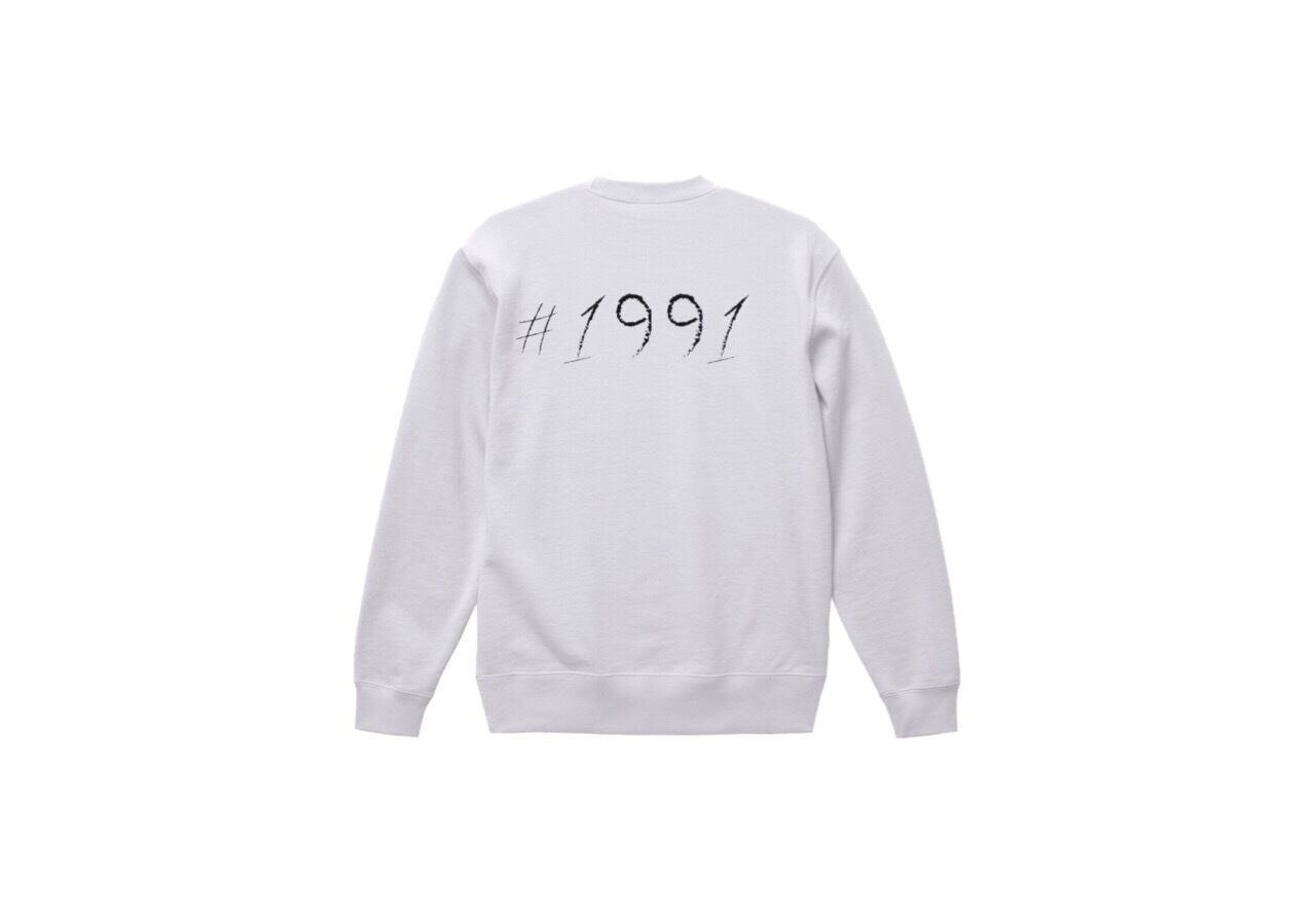 1991 big logo sweat (wht/bk)