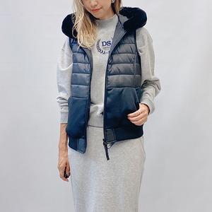 DOUBLE STANDARD CLOTHING(ダブルスタンダードクロージング)キャノンループタフタファーベスト 2021秋冬物新作  [送料無料]