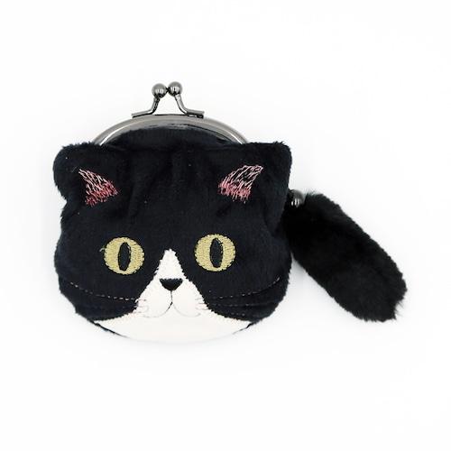 猫小銭入れ(ファミネコ小銭入れ)ブラック
