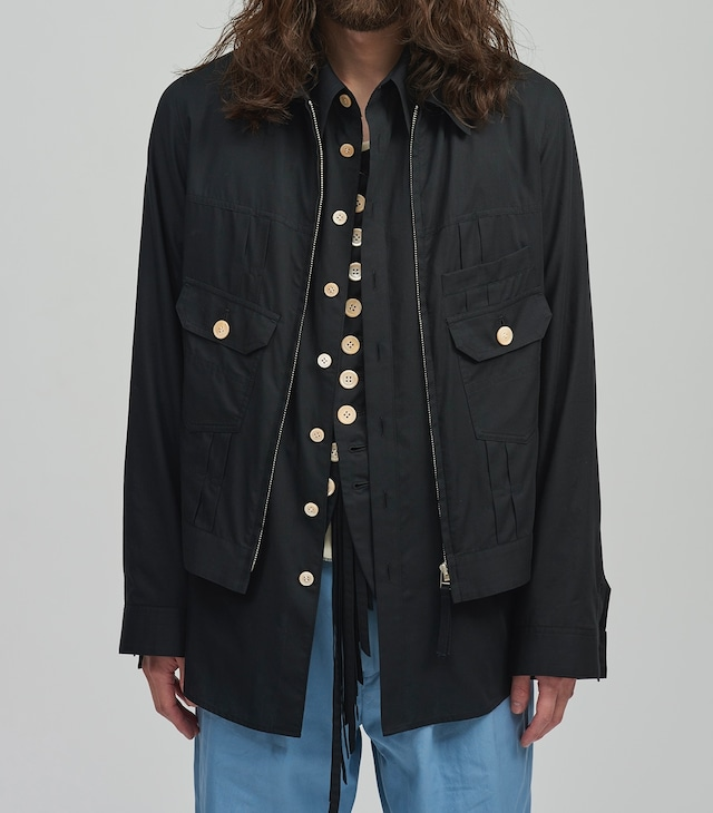 BED J.W. FORD /  Front zip shirts blouson(BLACK)