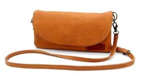 Yezo deer shoulder bag wallet tanned brown