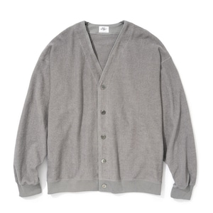 """Just Right """"Double-Faced Pile Cardigan"""" Grey"""