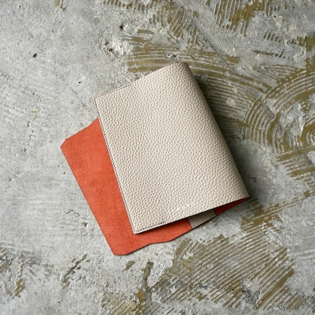 BOOK COVER(文庫サイズ)ベージュ × キャロット