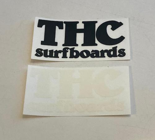 【THC SURFBOARDS】THC サーフボード ステッカー 黒白2枚セット