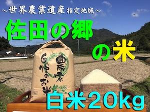 【令和3年新米】佐田の郷の米(白米20kg/玄米22kg)【慣行栽培米】