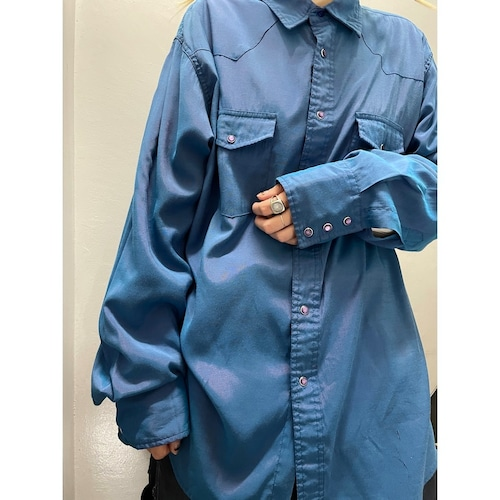 90's Wrangler 玉虫色 ウエスタンシャツ