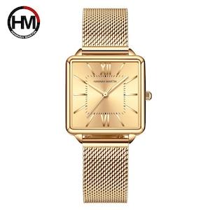 日本クォーツムーダイヤルローマ広場の時計ケースstanless鋼ファッション腕時計レディースローズゴールドは、女性の1082JWJJ