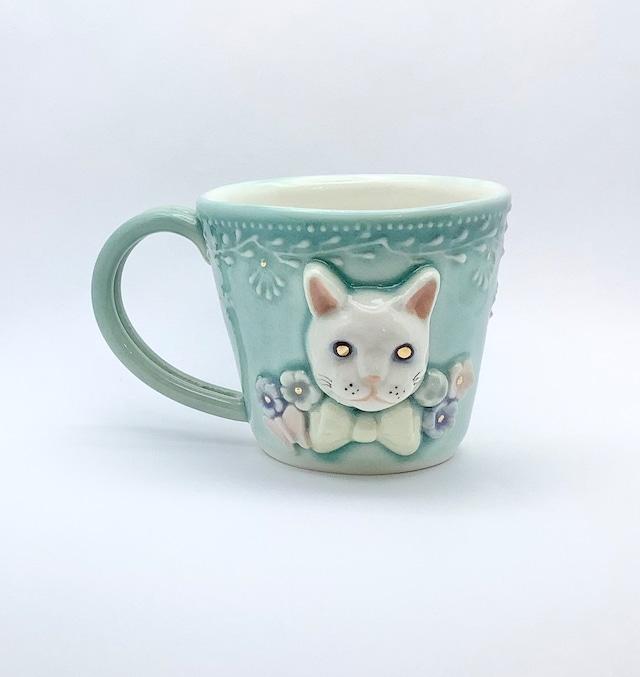 山本貴美子 アニマルデミタスカップ ネコ