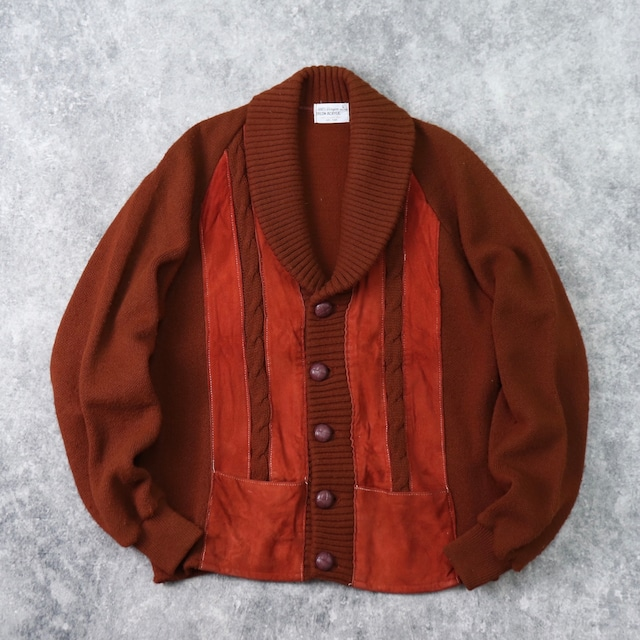 1970s  Vintage   Shawl  Color   Acrylic  Cardigan  L b247