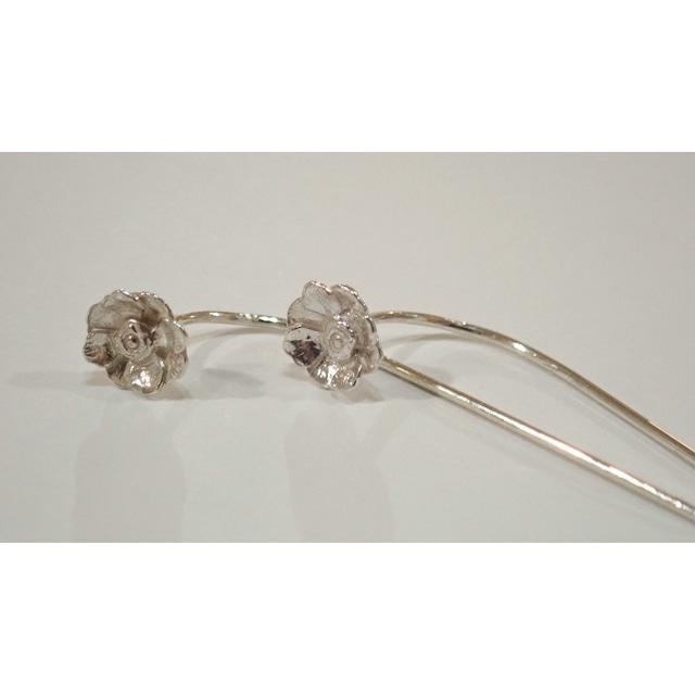 Anemone Silver Fook Earrings