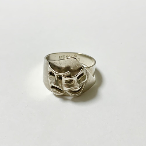 Vintage Beau Sterling Comedy & Tragedy Face Ring