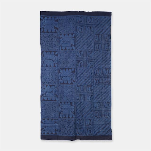 ナイジェリア ヨルバ族の藍染布 アディレ・エレコ SLI018