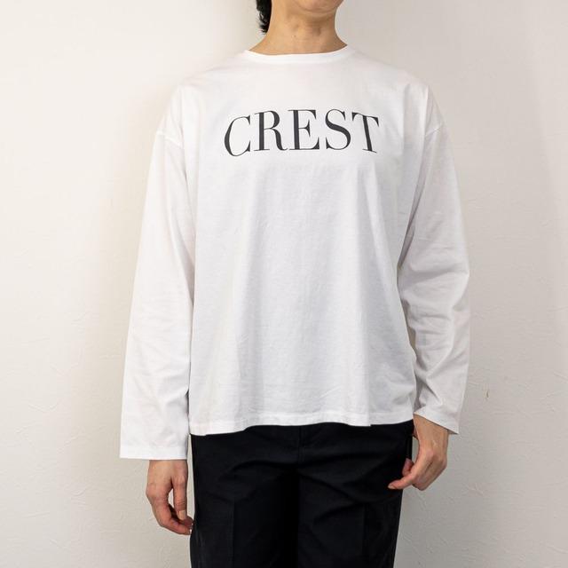 "【MICA&DEAL/マイカアンドディール】""CREST""ロングスリーブTシャツ(ホワイト)"