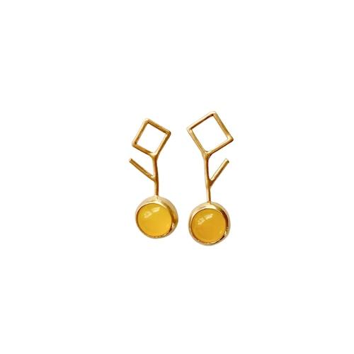 'citrus' pierced earrings