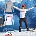 スウィックス swix レースX ボディウェア レディース 【グレイ・ホワイト】 ベースレイヤー インナー スキー スノーボード スノボ クロスカントリー 登山 キャンプ フィットネス ウェア