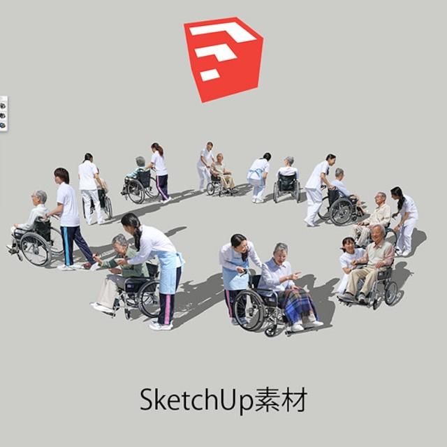 医療人物SketchUp素材10個 4p_set047 - メイン画像