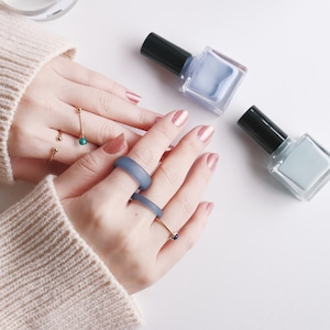 SET RINGS || 【通常商品】 EARLY SPRING CLEAR RING SET C || 5 RINGS || GOLD×BLUE || FBA070