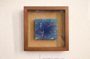 【絵画 油彩】『私は深淵に辿り着きたいのだ』作品サイズ8.5×8㎝ 額入り