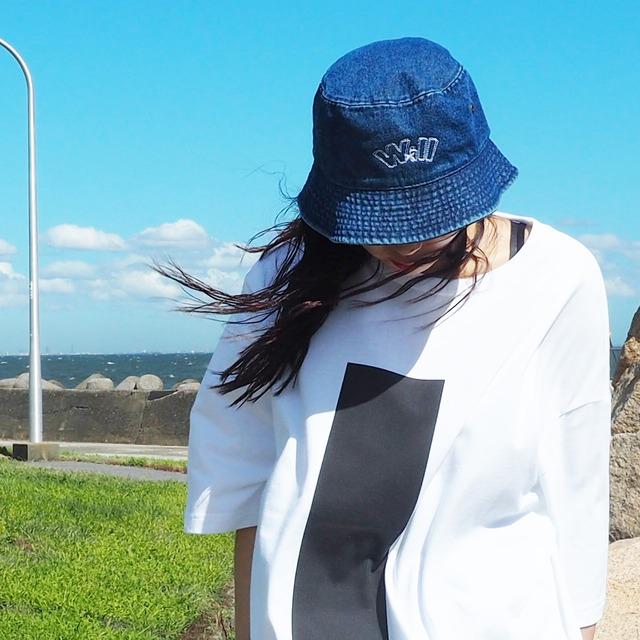 WillxWill double line Bucket Hat denim dark blue