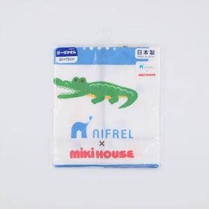 MIKI HOUSE × NIFREL ガーゼタオル(青)