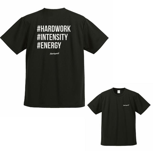 #SHOEHURRY 3KEYWORDS DRY T-SHIRTS|ドライTシャツ(ブラック/ホワイト)