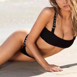 Bikini♡ベルトストラップビキニ ブラック