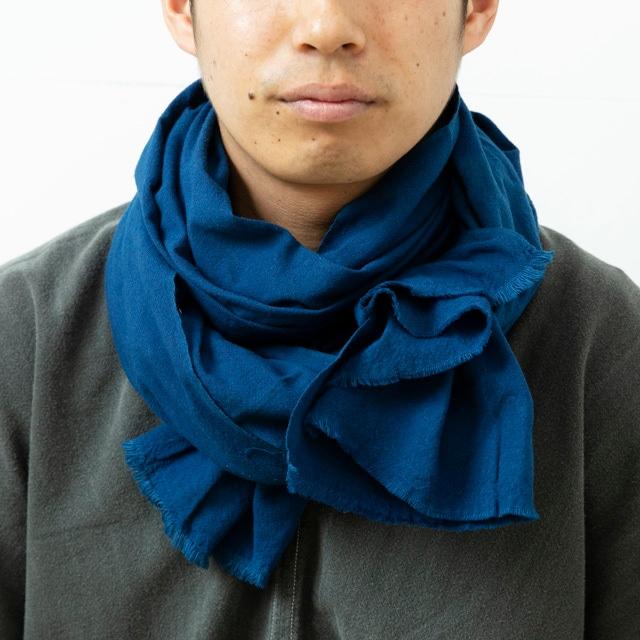 G-38 伊勢木綿 作業首巻 ふた巾 抗菌藍染