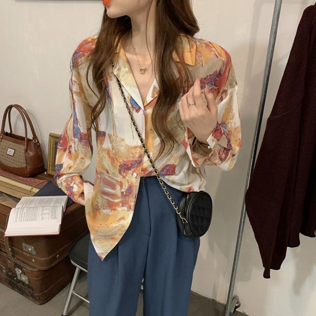 シックデザインロングシャツ YH9227