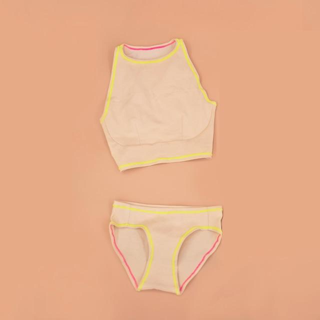 hi-neck & bikini (Harajuku Yellow♡)