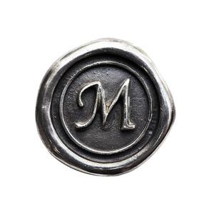 シーリングイニシャル S 〈M〉 シルバー / コンチョボタン