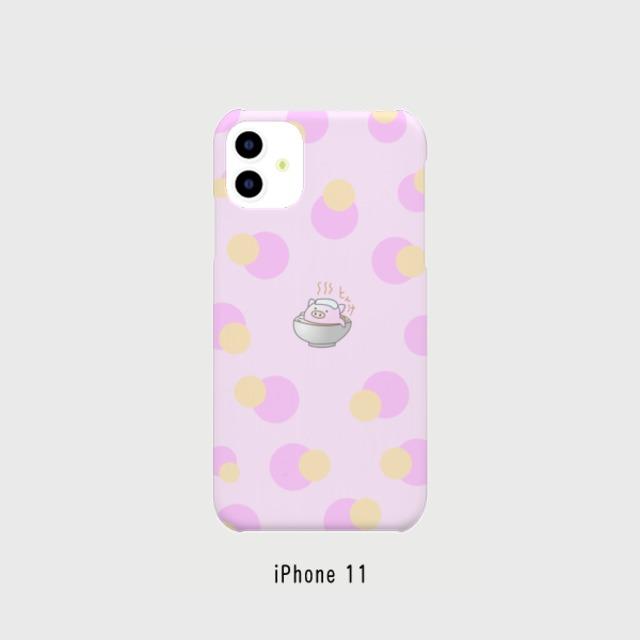 iPhone 11 対応 表面印刷 スマホケース ピンク とん汁ぷくちゃん