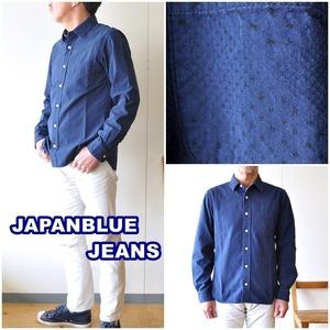 JAPANBLUEJEANS  ジャパンブルージーンズ インディゴシャツ 353051  長袖シャツ ドット柄