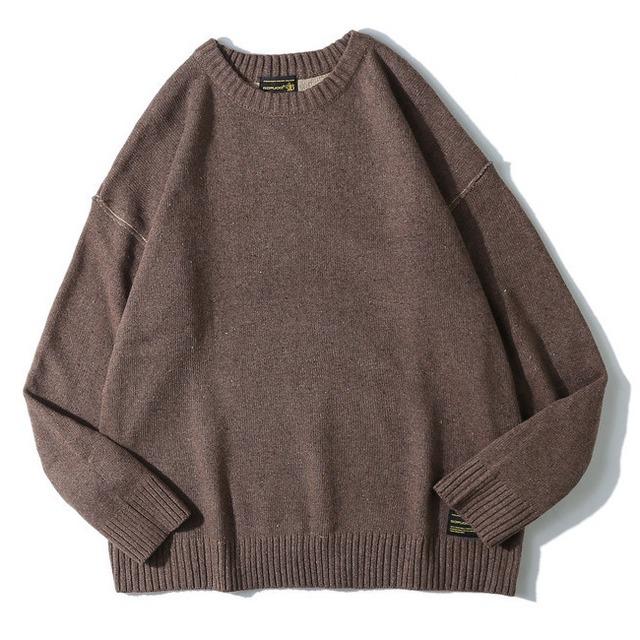 【UNISEX】ラウンドネックヘッジベースセーター【4colors】