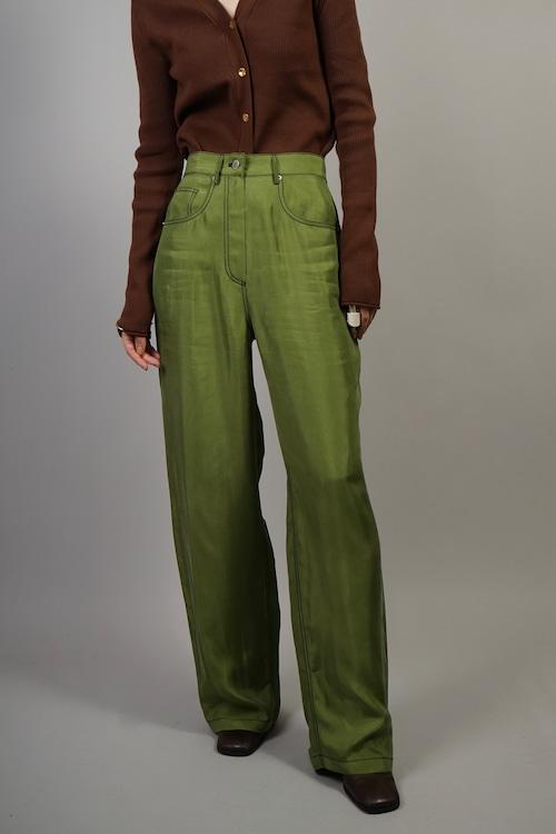 STITCH  RAYON PANTS (GREEN) 2109-07-85