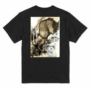 陥穽Tシャツ黒-XXL