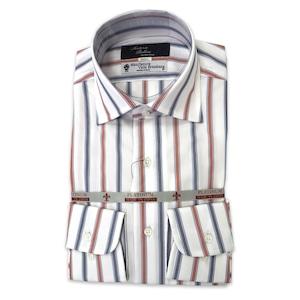国産セミワイドカラーシャツ ストライプ