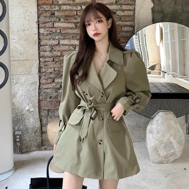【アウター】韓国系合わせやすい気質溢れる新作ベルト付きトレンチコート33600751