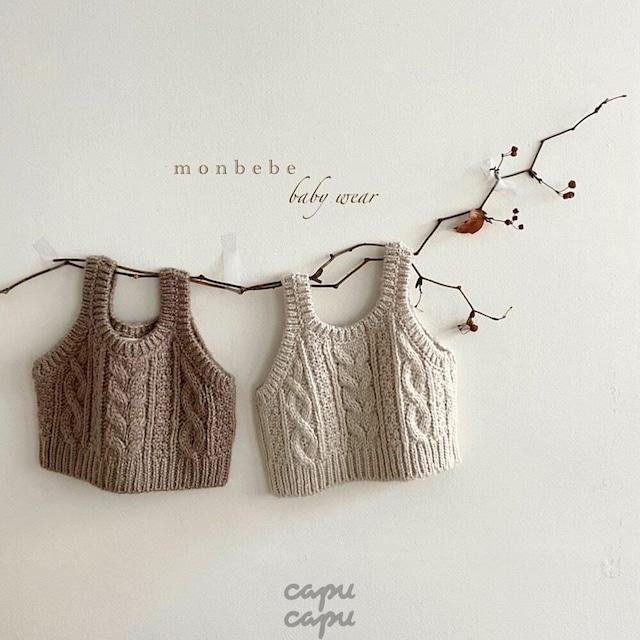 «先行予約割引最安値» monbebe knit vest ニットベスト