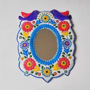 メキシコ ブリキ鏡(003)