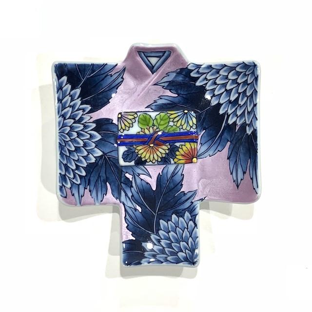 紫菊  着物銘々皿[房空路]
