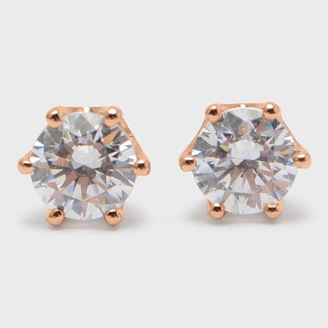 BIJOUPIKO Diamond Pierce  K18PG (ビジュピコ 6点留めダイヤモンドピアス 0.4ct K18ピンクゴールド)