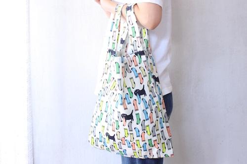"""【保護猫支援】spicanoniwa""""LEONと靴下"""" textilebag"""