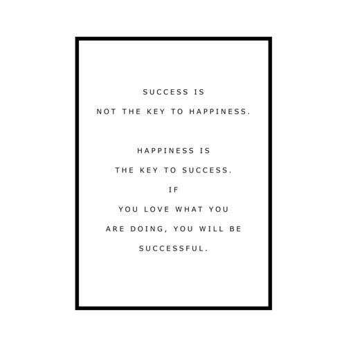 """""""SUCCESS IS..."""" INSPIRATIONシリーズ [SD-000582] A3サイズ フレームセット"""