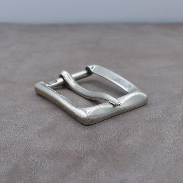 【F25682】イタリア製 バックル 35mm幅 カジュアルベルト用 尾錠 スクエア シンプル