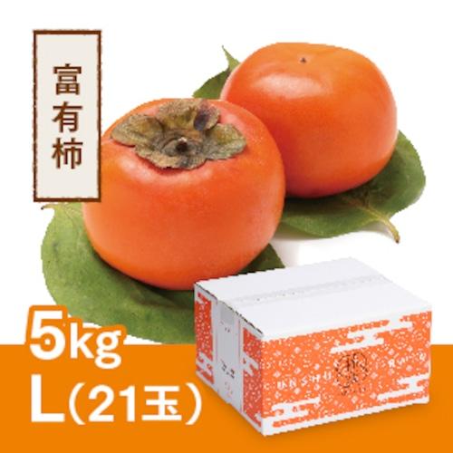 【予約 11月20日以降順次発送】富有柿 L 21玉(5kg)