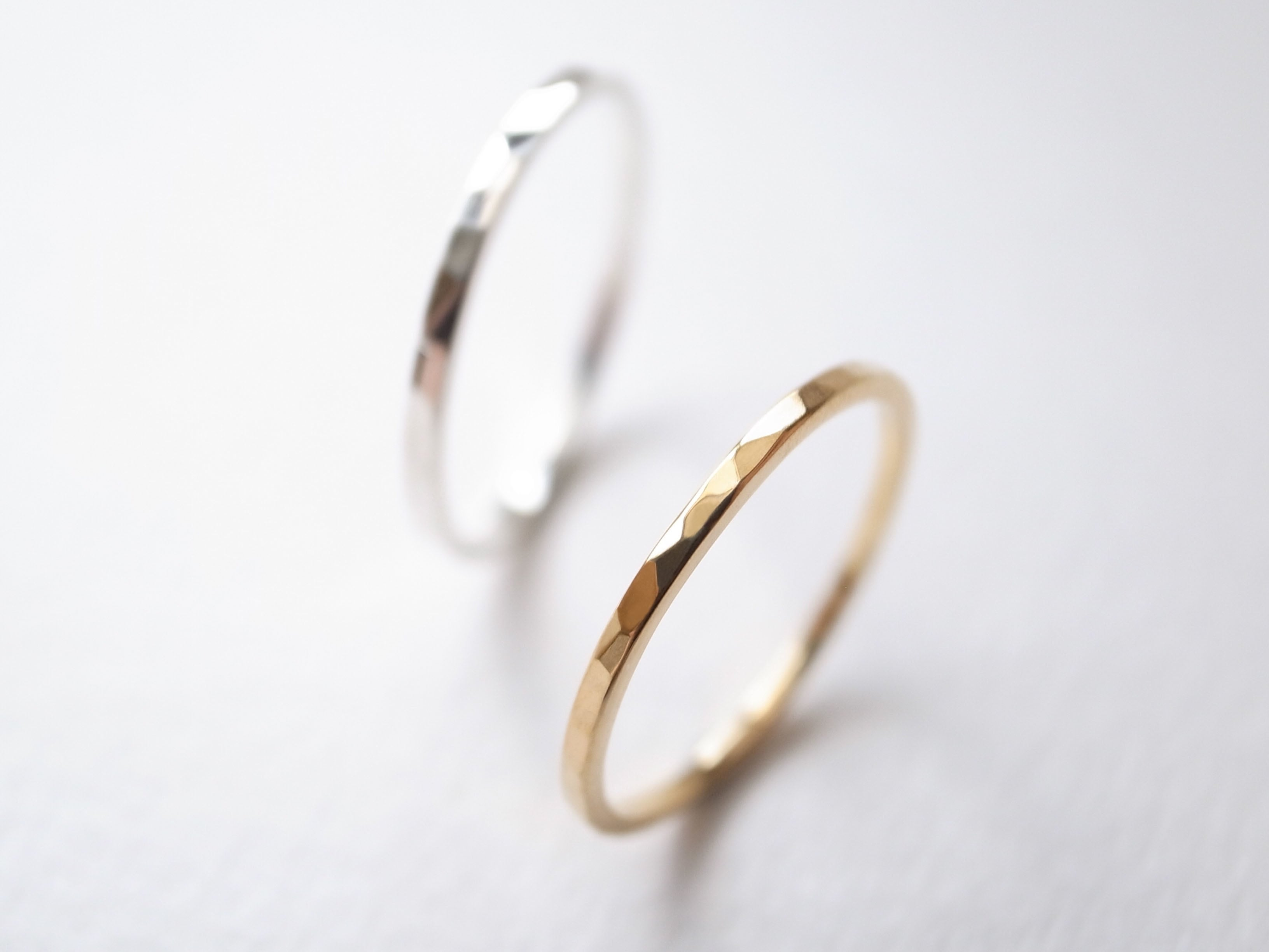 【pairing】K18YG・Pt900/tsuchime kaku ring